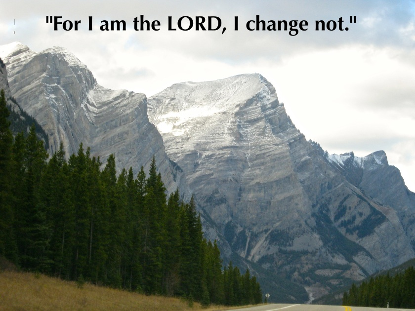 Malachi 3:6: The Canadian Rockies-Photo by Mark J. Booth