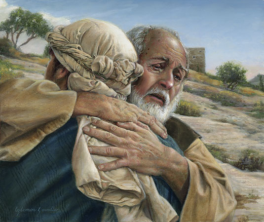 The Return of the Prodigal Son by: Liz Lemon Swindle (Used with Permission) If you are interested in her paintings her webpage is: www.lizlemonswindle.org