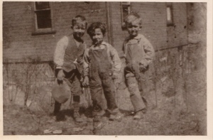 Mom as a young child in Patton, PA.  She is the one in the middle.